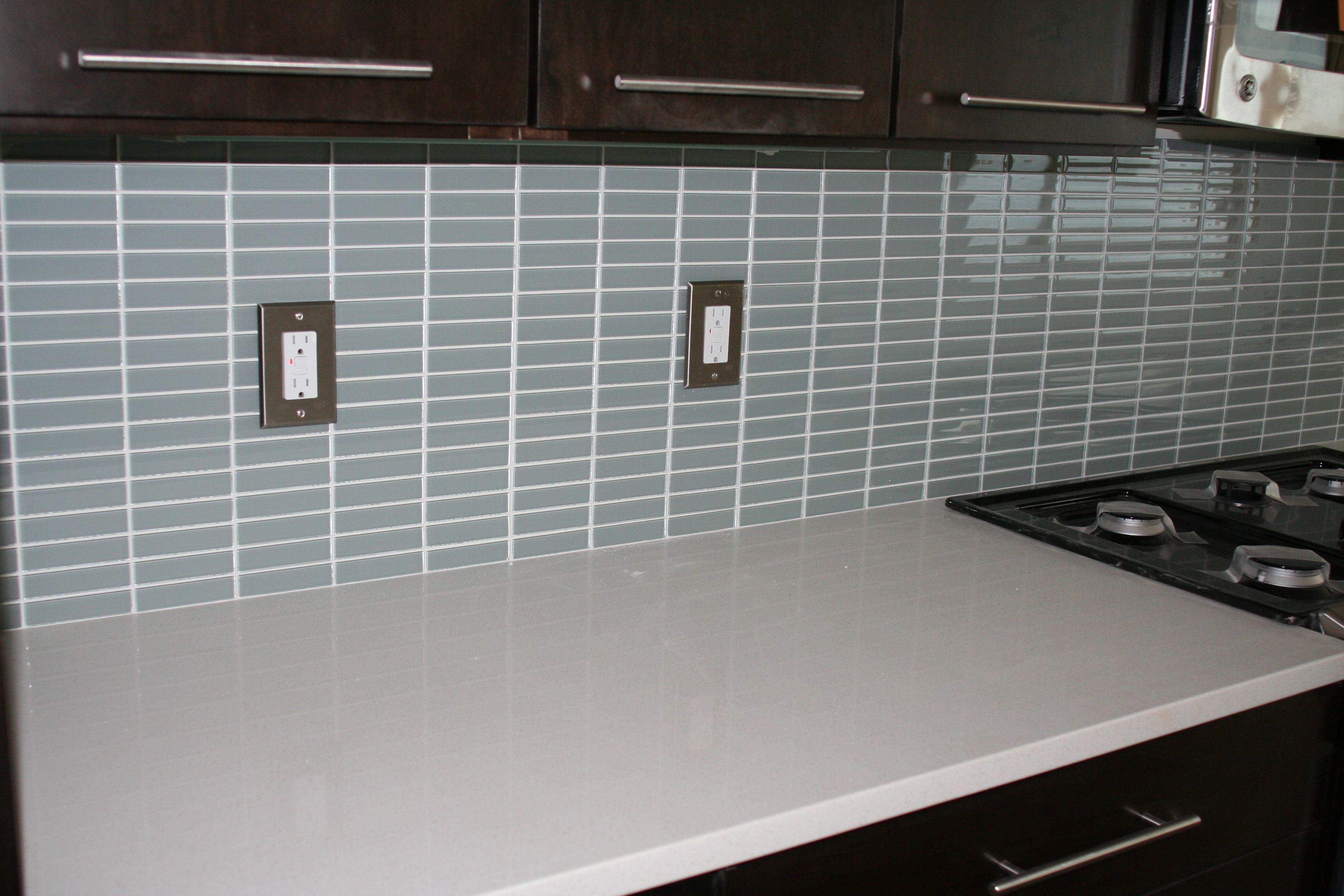 glass subway tile backsplash pictures | Lush 1x4 Modern Kitchen Tile ...