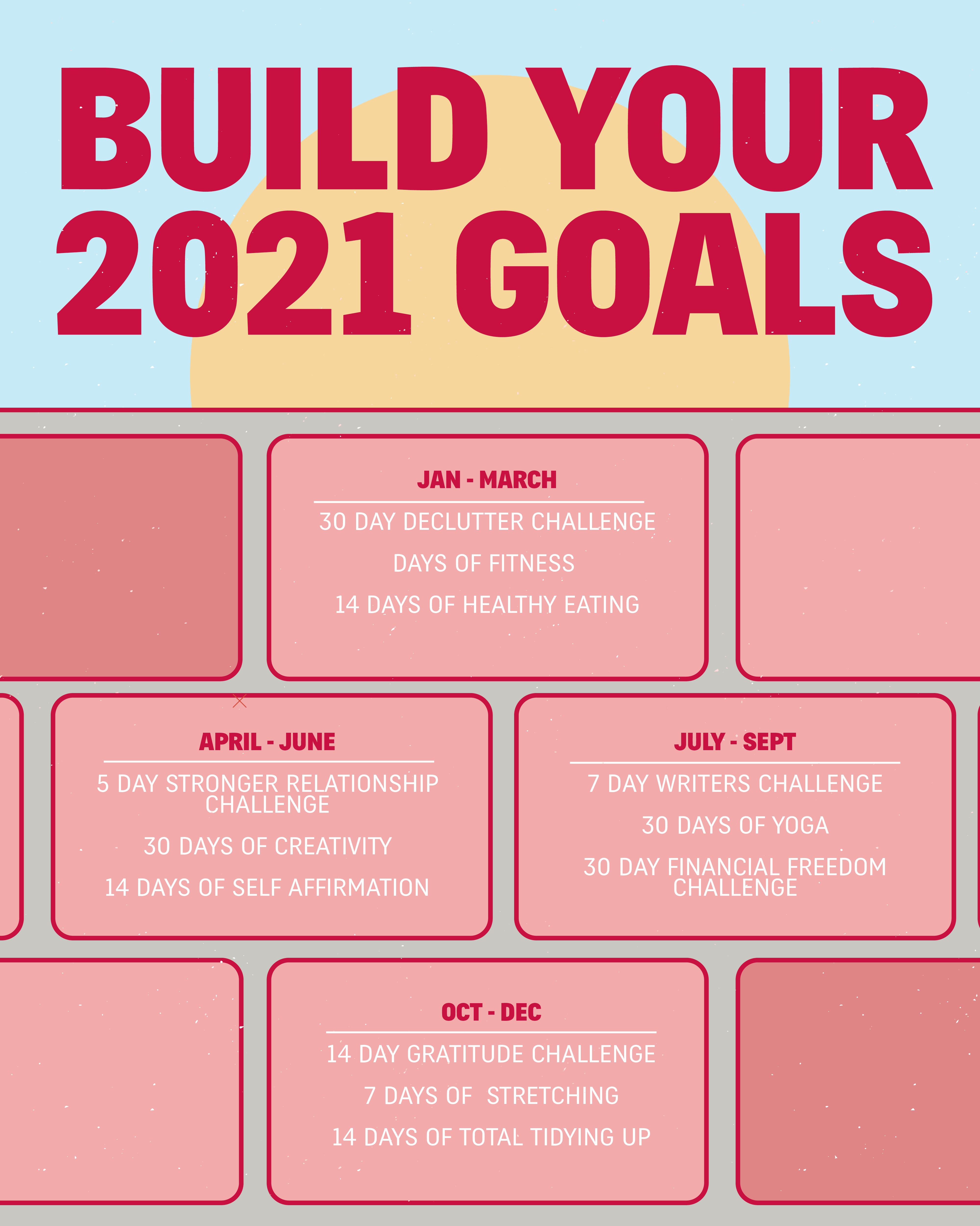 Build Your 2021 Goals Self Care Activities New Year Goals Self Improvement Tips