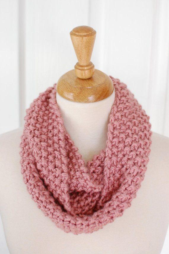 23a0cec427d Infinity Scarf (Dusty Pink)   Products   Dusty pink, Pink, Crochet ...