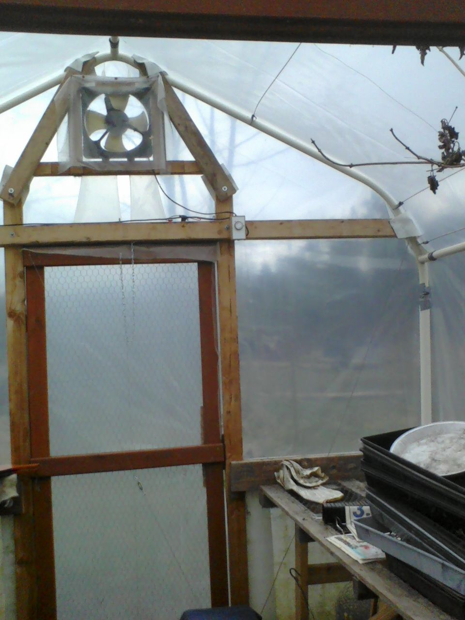Greenhouse From Old Carport Frame in 2020 Greenhouse