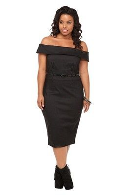 NWT Torrid~ROCKABILLY DRESS Pin-up/Mad Men PLUS SIZE 22/3x Wiggle/Pinstripe~NEW $99