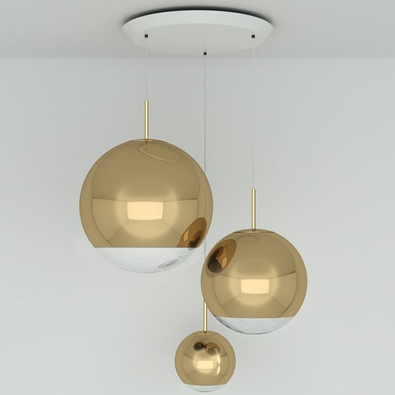 Mirror Ball Multi Light Pendant By Tom Dixon Mbps02g Pusm1 Multi Light Pendant Mirror Ball Light