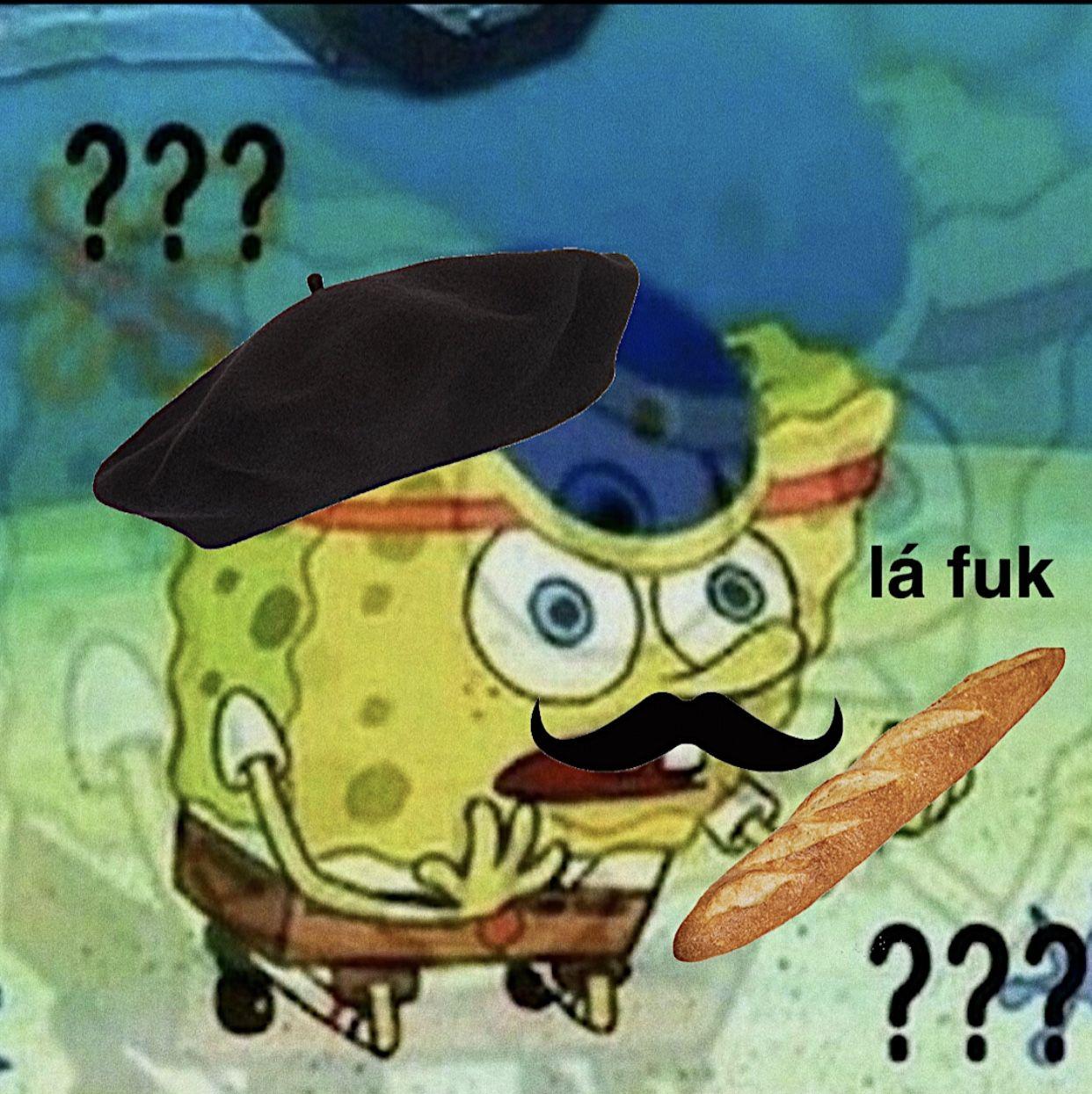 Me In French Class Cute Memes French Meme Spongebob Memes