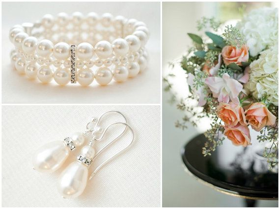 Bridal Jewellery SET Bridal Bracelet and by SarahWalshBridal