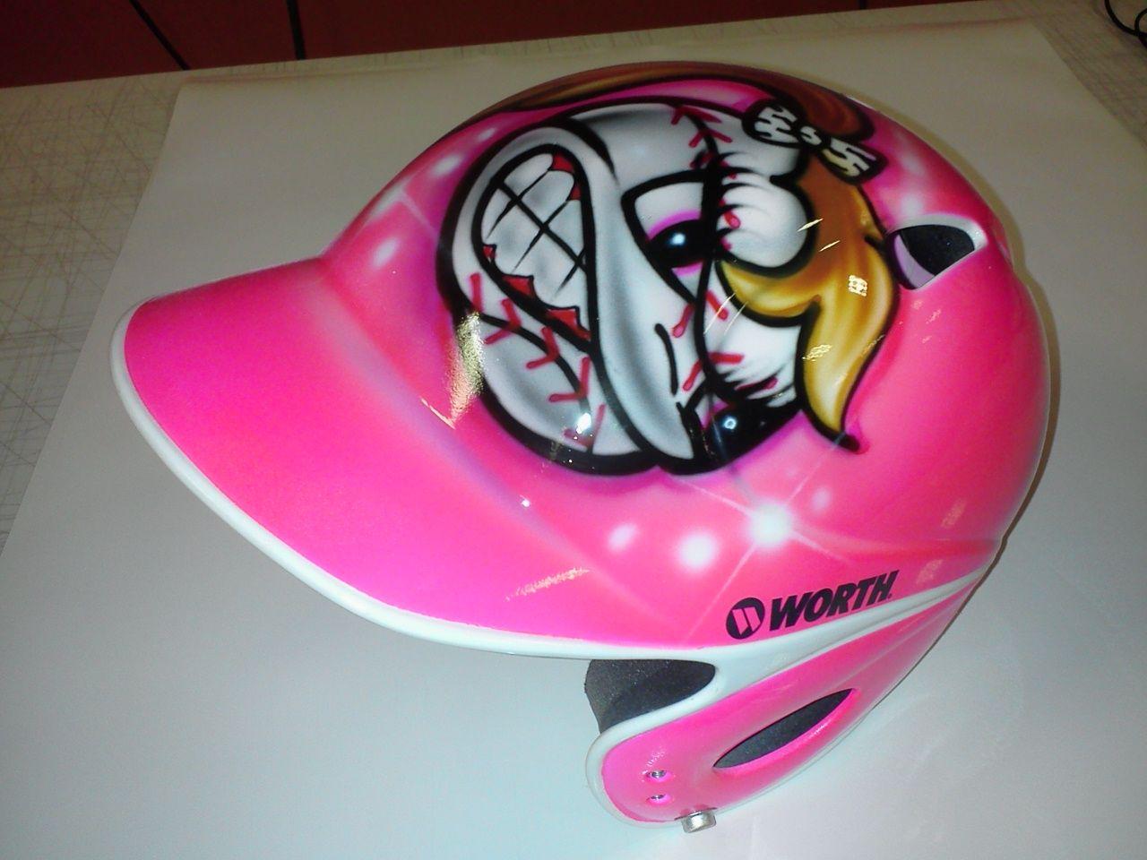 Girls softball helmet pink and zebra stripes --------- The ...