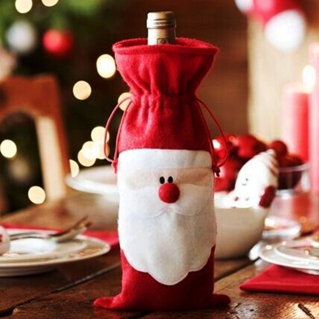 $224  Free Shipping / Coupons 】Red Wine Bottle Cover Bags - christmas decors