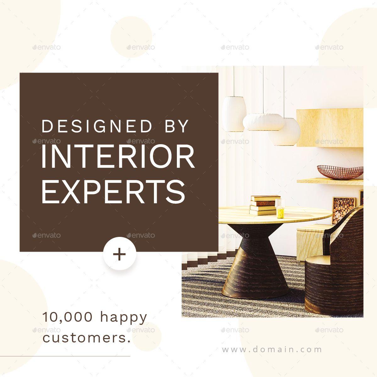Interior Design Web Banner Set Ad Design Ad Interior Web