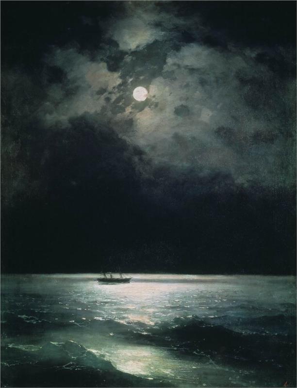 The Black Sea at Night (1879) / by Ivan Aivazovsky