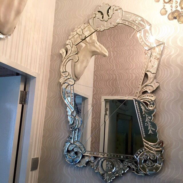 SNOW CRYSTAL MIRROR ~ Inspired By Kare Design, Germany. Inspired By World