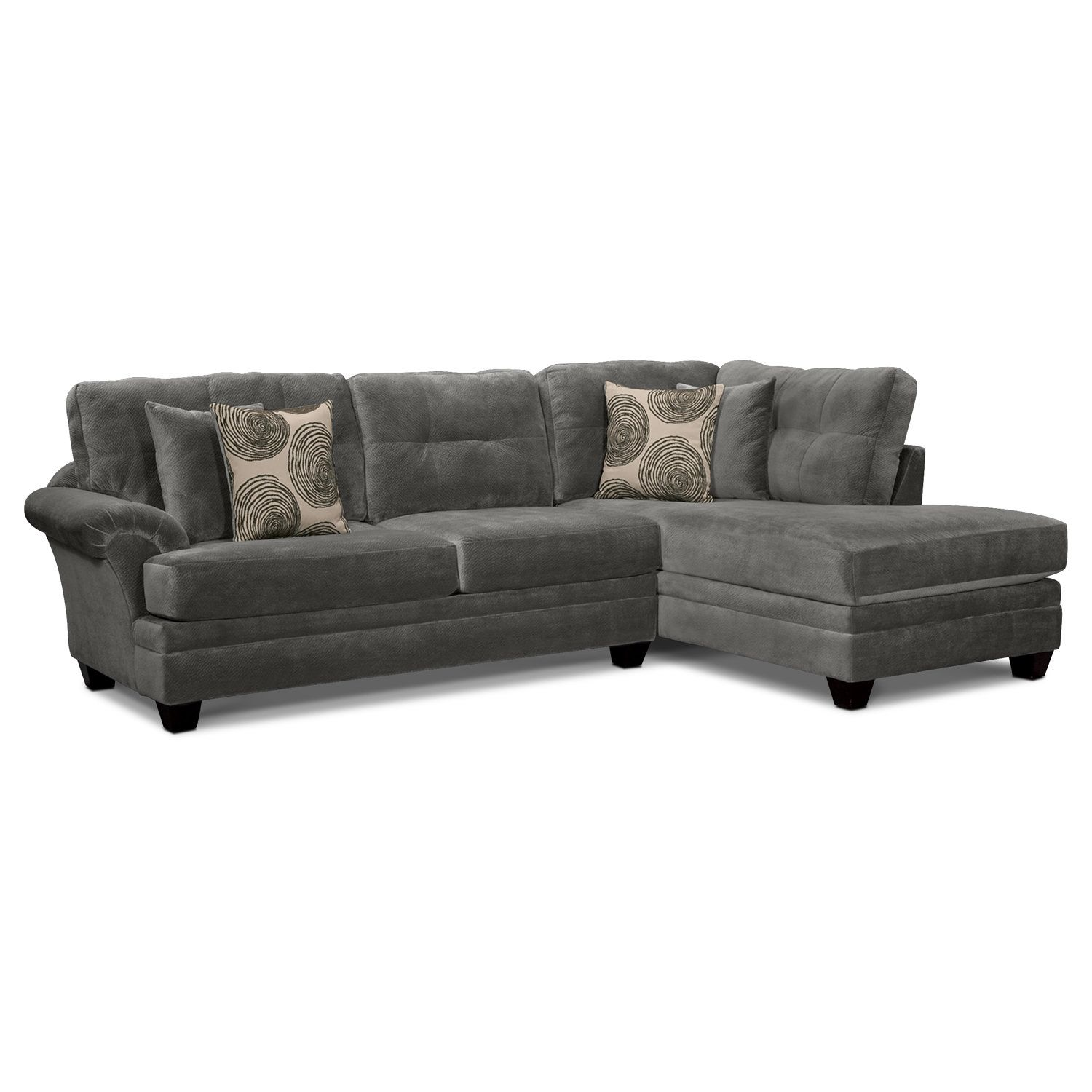 living room furniture cordelle 2 piece right facing chaise
