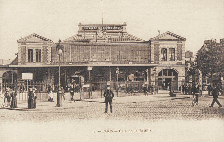 Les gares du paris d 39 antan la gare de la bastille vers 1900 history pinterest france and - Gare montparnasse porte maillot ...
