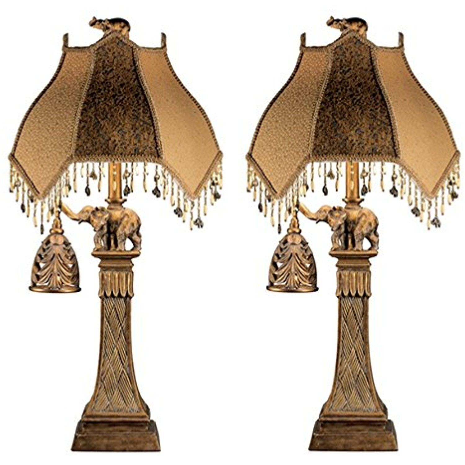 Ashley Furniture Signature Design Elephant Theme Table Lamp With Nightlight Set Of 2 Bronze Finish You Can Get Additional De Lamp Lamp Sets Table Lamp