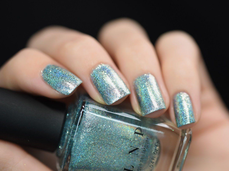 Amazon.com : ILNP Shoreline - Seafoam Blue Holographic Nail Polish ...