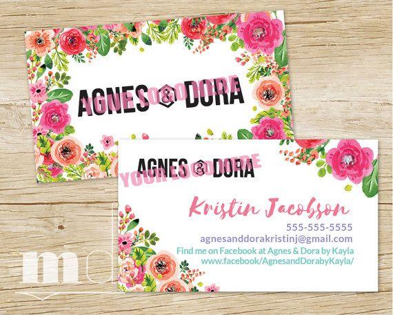 Agnes And Dora Business Card, Agnes \ Dora Custom Business Card   Custom  Business Invoices  Custom Business Invoices