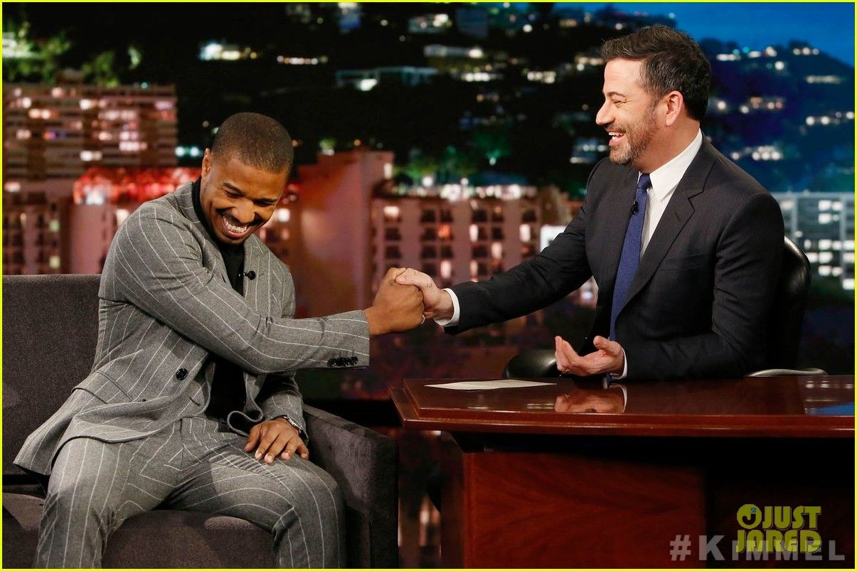 ebab3c88d573 Michael B. Jordan Tells  Kimmel  Why He Was Cut from  Creed II    Punches  Him - Watch Here!