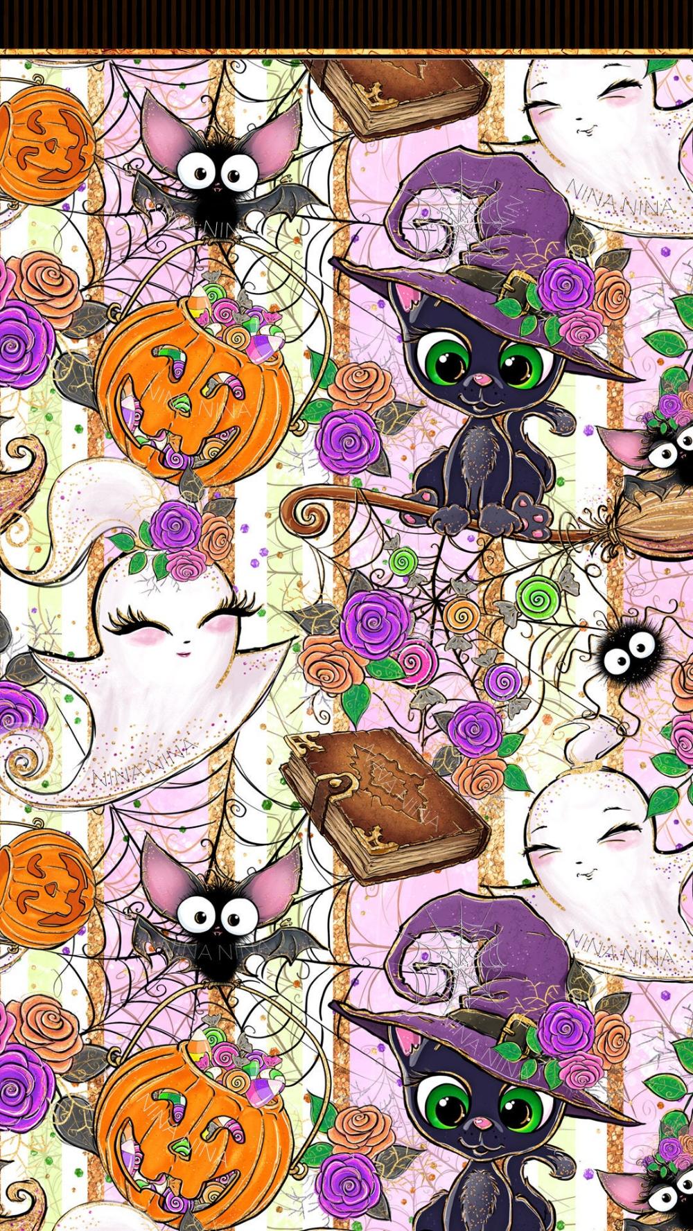 Cute Halloween Digital Paper Pack Halloween Seamless Etsy In 2020 Halloween Digital Halloween Wallpaper Glitter Planner