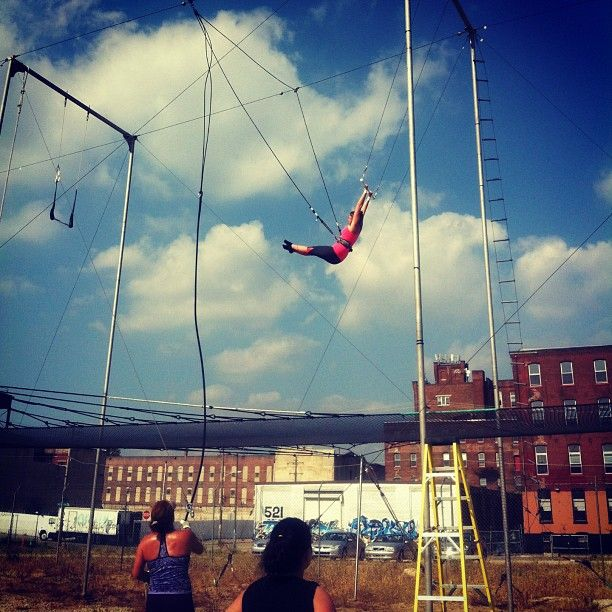 I want! Flying trapeze lesson at the at @flyschoolcircus, #Philadelphia's first…
