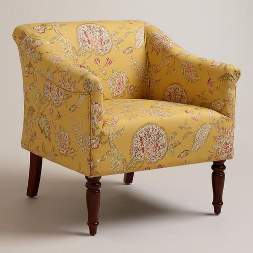 yellow decor on living after midnite  world market chair