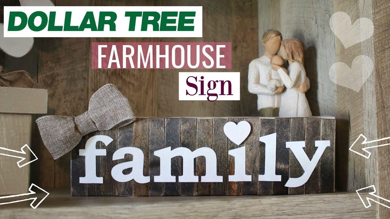 Diy Cute Farmhouse Sign Diy Farmhouse Home Decor Sign Stained Wood Sign From Dollar Tree Items Farmhouse Signs Diy Dollar Tree Diy Diy Dollar Tree Decor