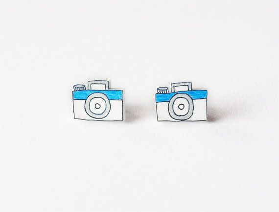 Little Cameras Stud Earrings by rareindeed on Etsy, $8.00