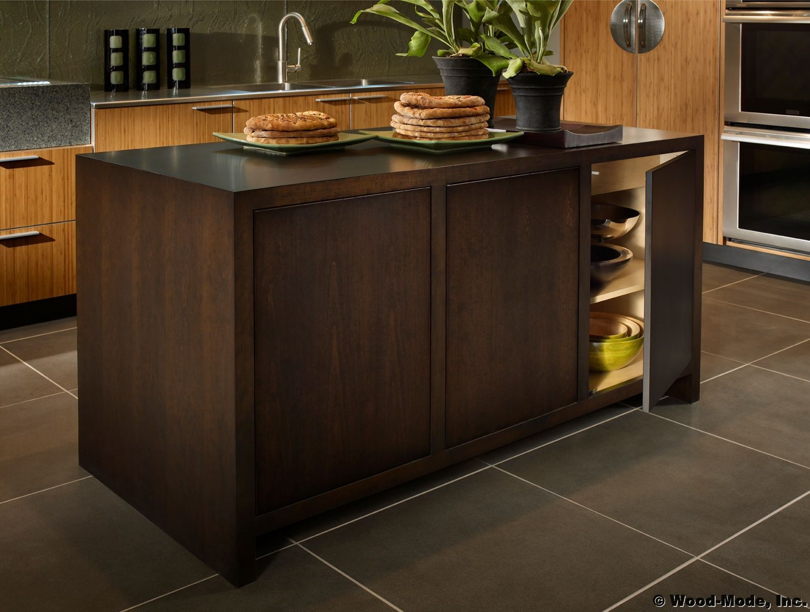 A Mix Of Rich Woods Created With Wood Mode Cabinetry Kitchen