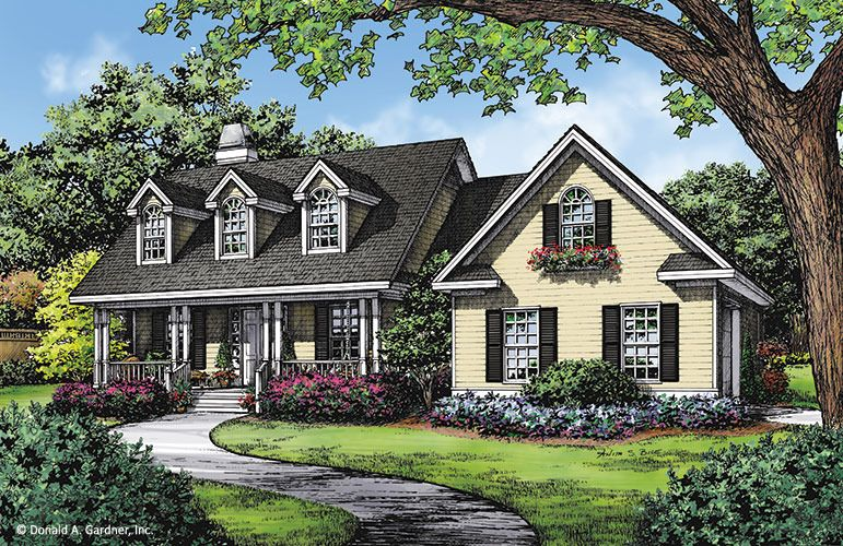 House plan the hatfield by donald a gardner architects for Cape cod style home plans