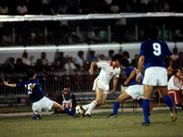 Czechoslovakia 1 Italy 1 (9-8 pens) in 1980 in Naples. Marco ...