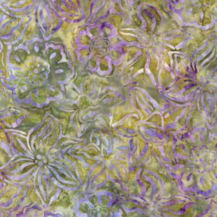 "Garden Mixed Flowers Batik Fabric/  44"" wide/per yard (6.99) Nancy's Notions"