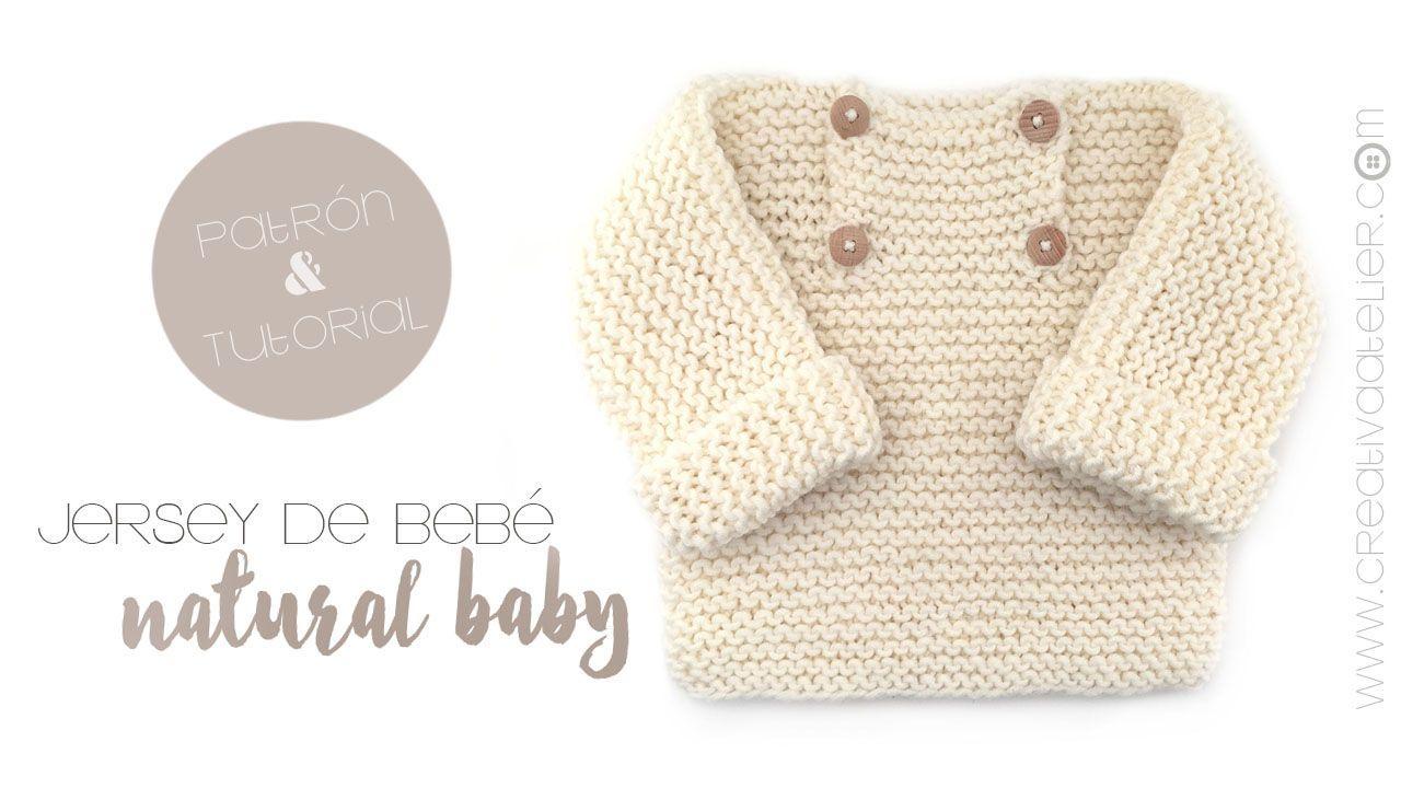 Jersey de bebé de punto bobo -Natural Baby | Örgü | Pinterest | Baby ...
