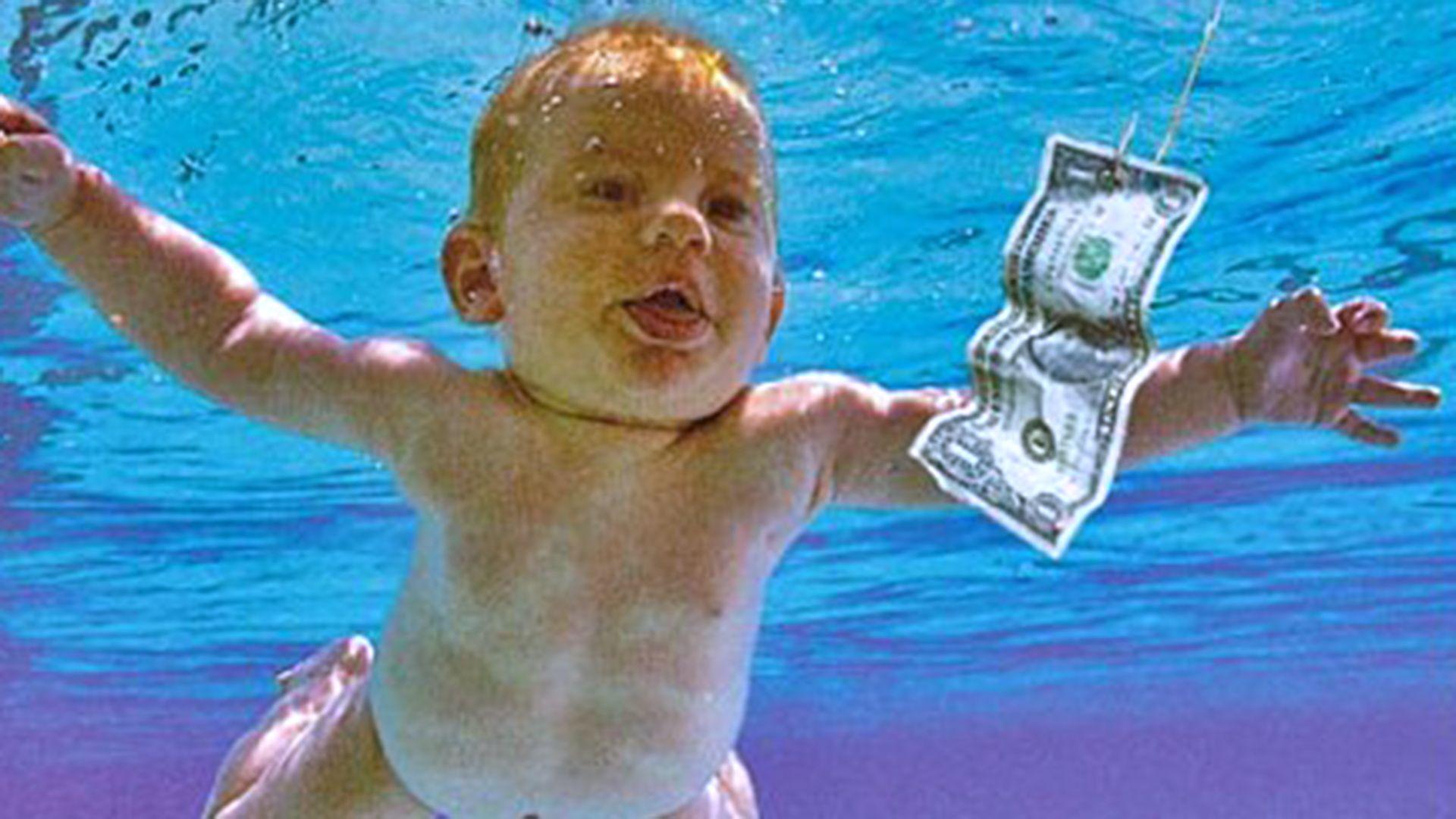 The Nirvana Nevermind album cover baby recreates the