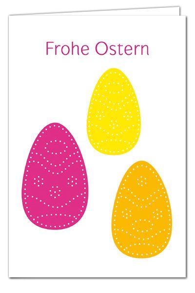 osterkarten zum prickeln drei prickeier pink orange gelb frohe ostern basteln mit kindern. Black Bedroom Furniture Sets. Home Design Ideas