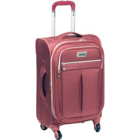 Coleman Breeze Upright Rolling Suitcase, Marsala, Red