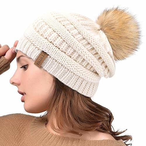 55dcbb2468348 FURTALK Womens Slouchy Winter Knit Beanie Hats Chunky Hat Bobble Hat Ski Cap   fashion  clothing  shoes  accessories  womensaccessories  hats (ebay link)