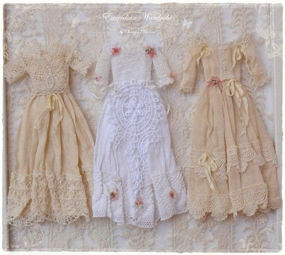 1:12 Edwardian Fashion Dress dollhouse by SorayaMiniatures