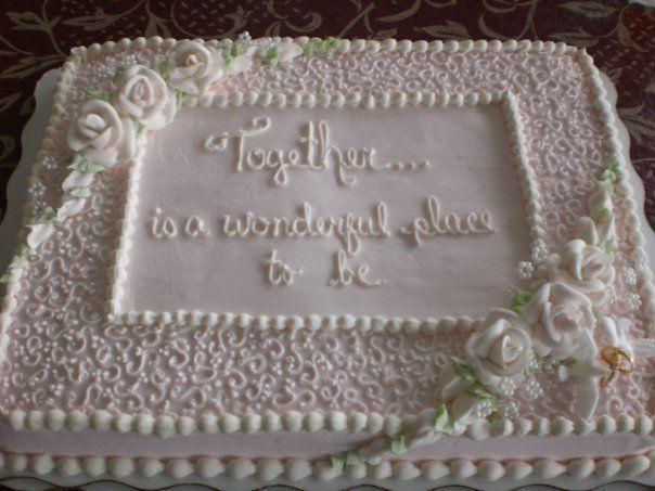 Bridal Shower Sheet Cake Decorating Ideas : Bridal shower cake CAKES Pinterest Bridal shower ...