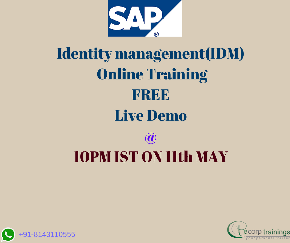 Best Institute For Learn Sap Idm 80 Online Training In Hyderabad