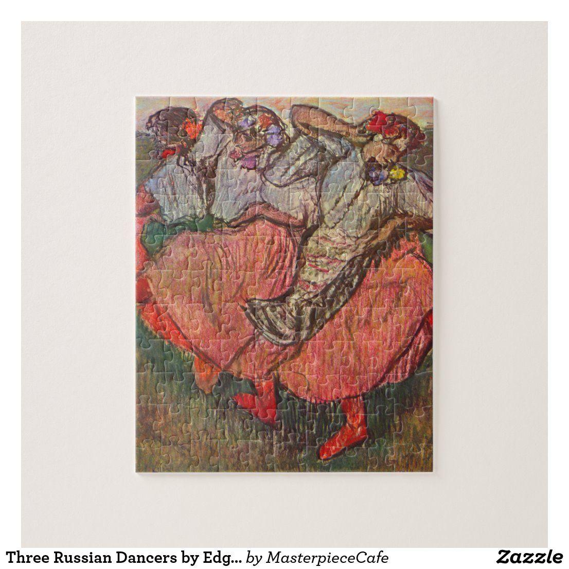 Three Russian Dancers by Edgar Degas Jigsaw Puzzle