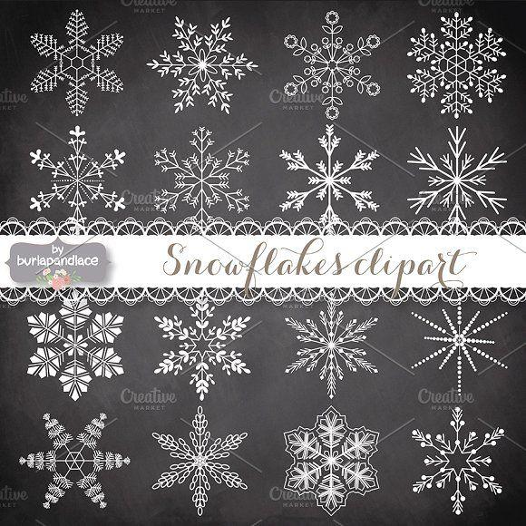 Vector Snowflakes Cliparts