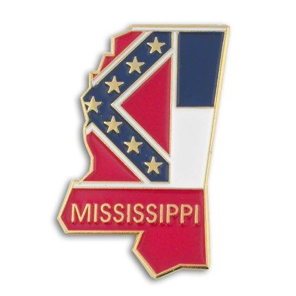 Mississippi Pin | State Flag Pins | Flag pins, Flag lapel pins