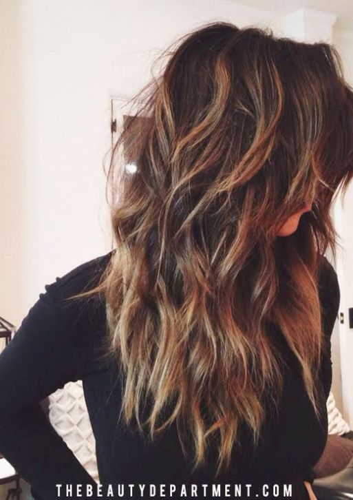 18 Freshest Long Layered Hairstyles with Bangs | hair ...
