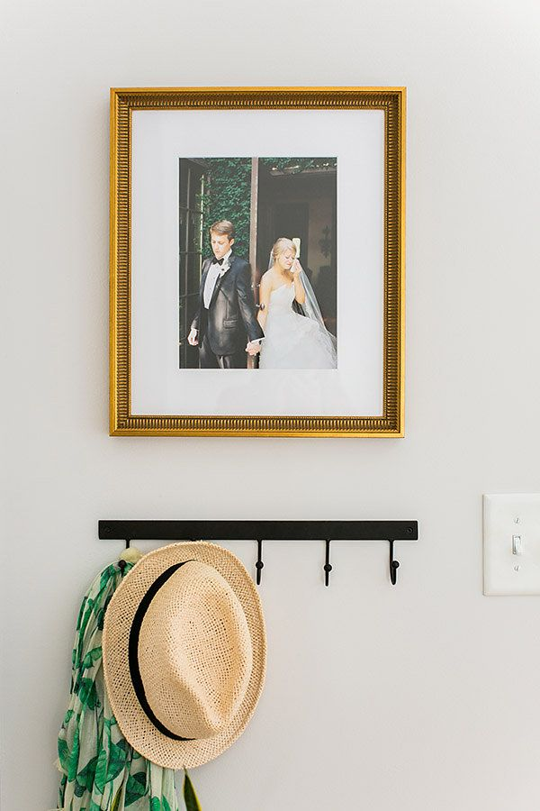 Inspiration for framing and displaying your wedding