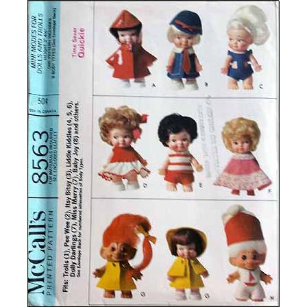 Vintage Doll Sewing Pattern Liddle Kiddles, Trolls, Pee Wee, Baby ...