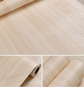 Self Adhesive Faux Light Maple Wood Vinyl Contact Paper ...