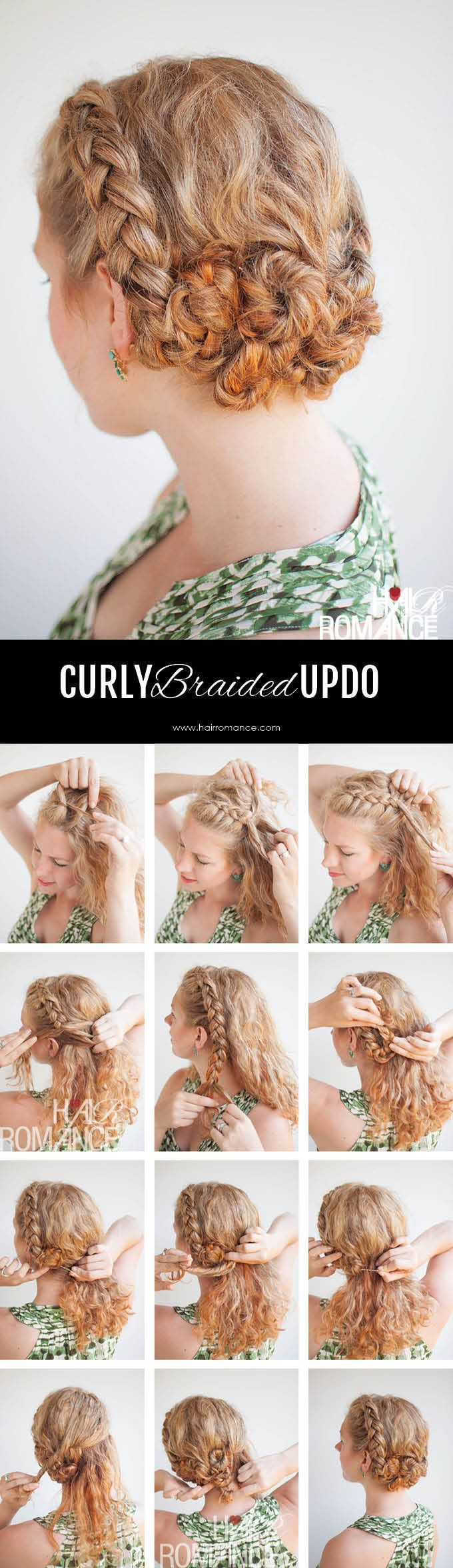 Brilliant 1000 Images About Curly Hair Hairstyle Tutorials On Pinterest Short Hairstyles Gunalazisus
