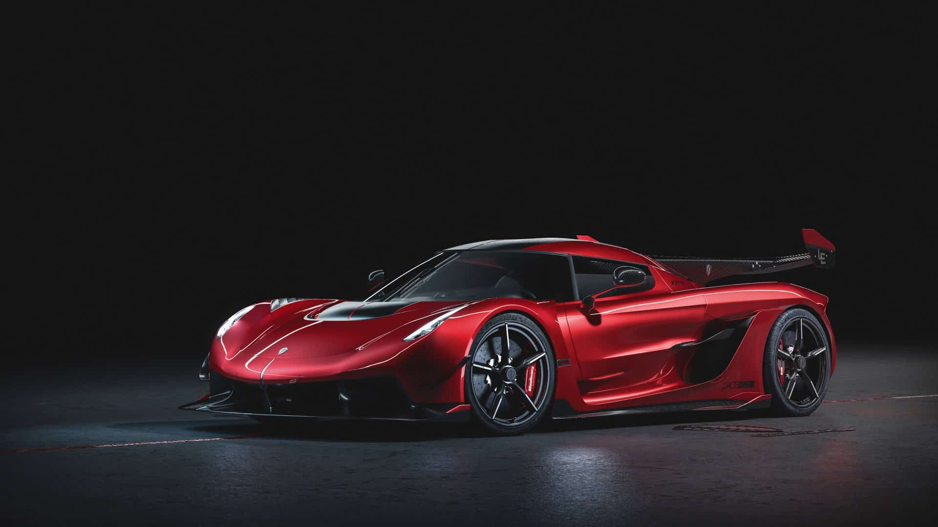 Simply Breathtaking The New Koenigsegg Jesko Cherry Red Edition10 Koenigsegg Super Cars Luxury Cars