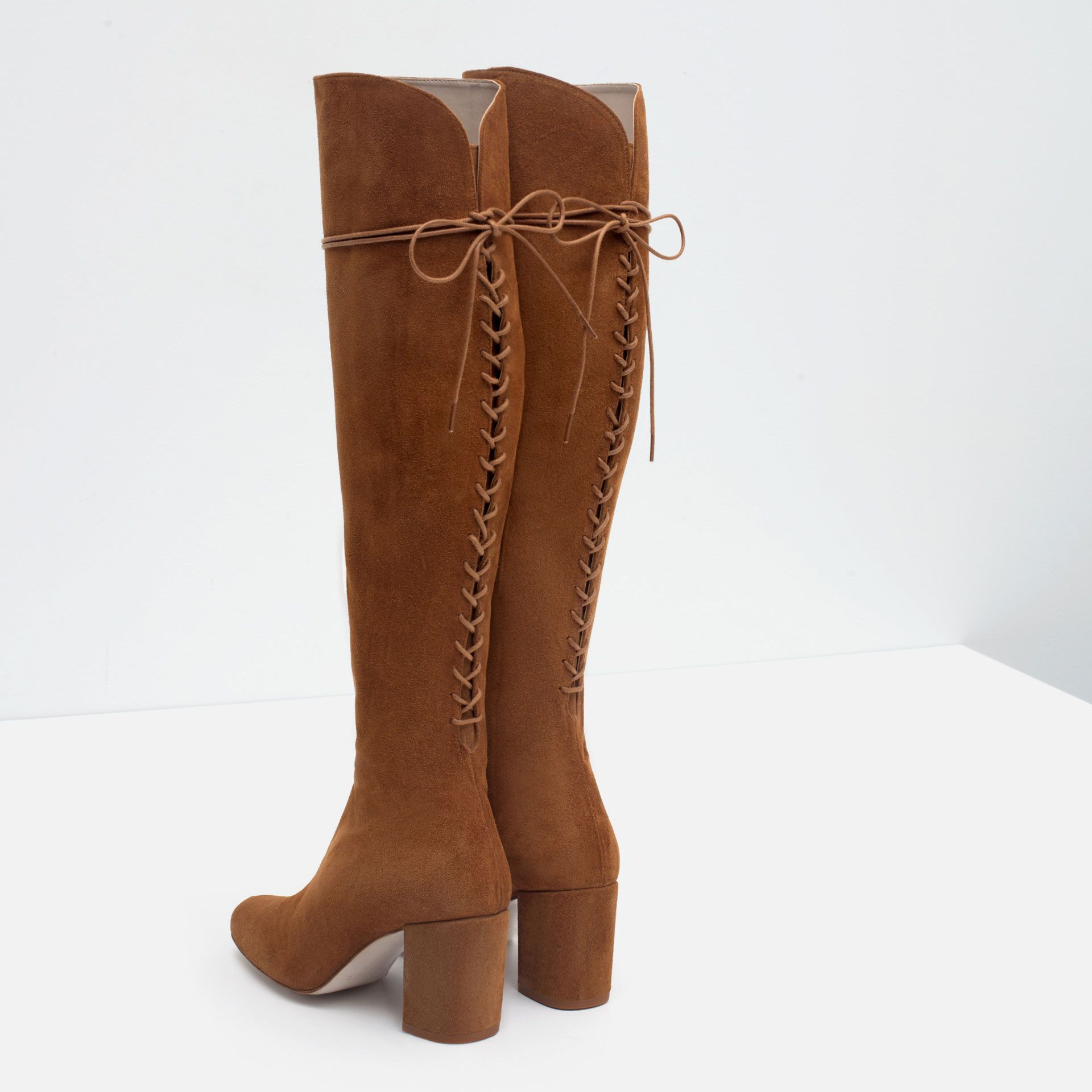 High Heel Leather Boots With Laces View All Shoes Woman Leather Boots Heels Boots Leather High Heel Boots