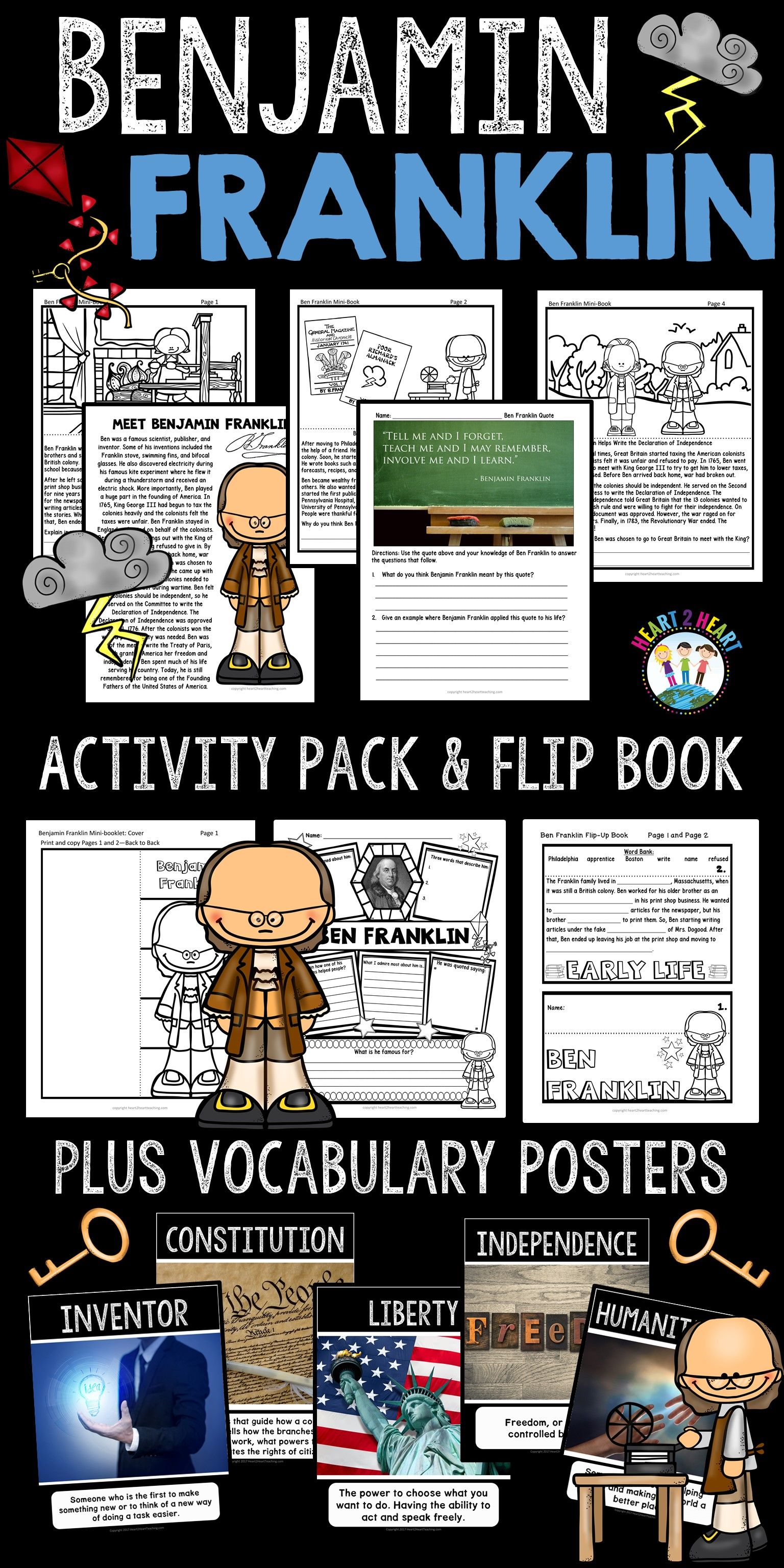 The Life Story Of Benjamin Franklin Activity Pack