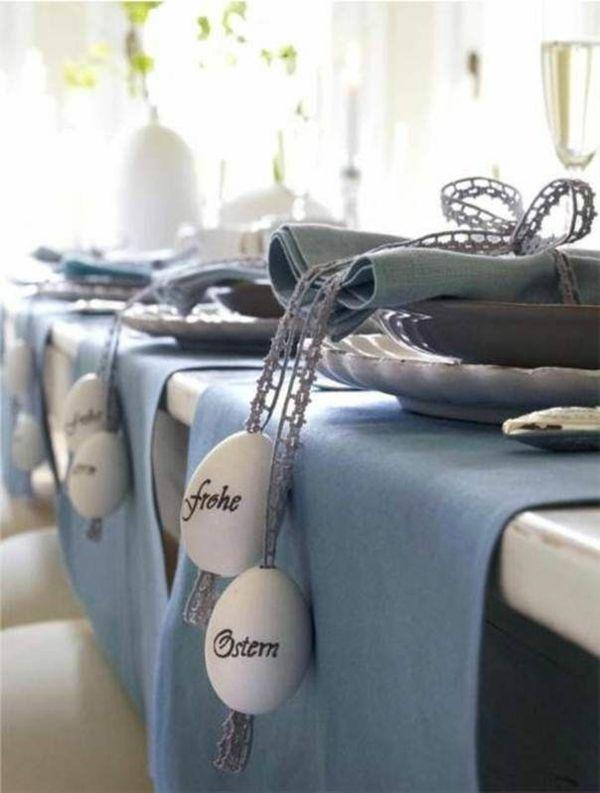 ostertischdeko basteln tischdeko ideen mit blumen und ostereiern ostern fr hling pinterest. Black Bedroom Furniture Sets. Home Design Ideas