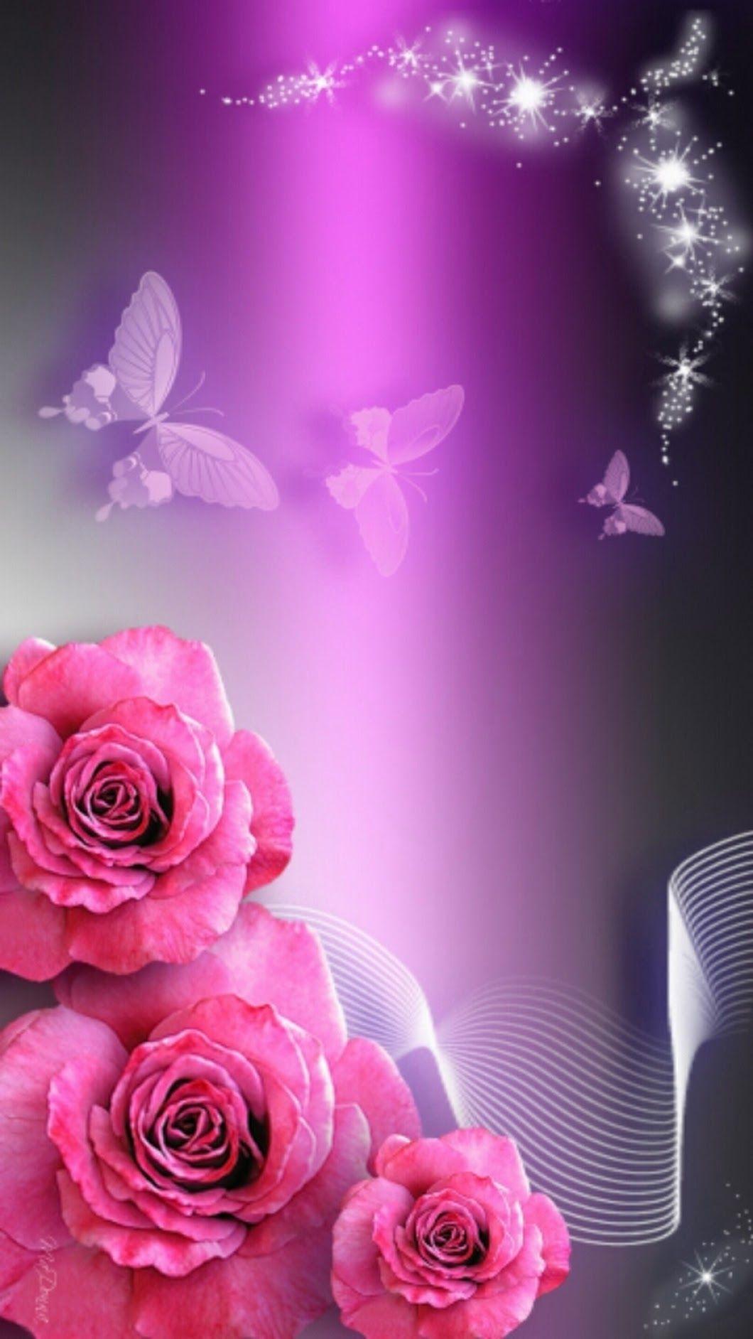 Розовые картинки и анимации