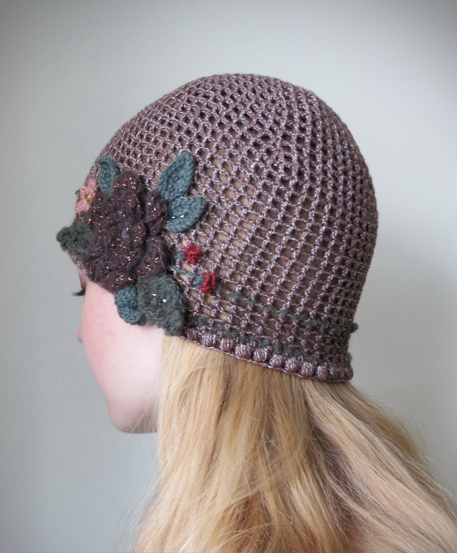 067af6ac Crochet Flower Hat Hand Knitted Summer Hat for Women Trending Knit ...